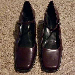 Coach square to mary jane burgundy shoes